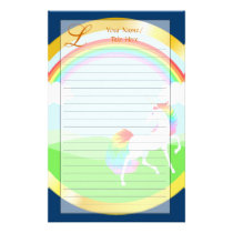 Rainbow Unicorn Stationery