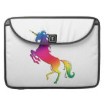 Rainbow Unicorn with Gold Horn Sleeve For MacBook Pro