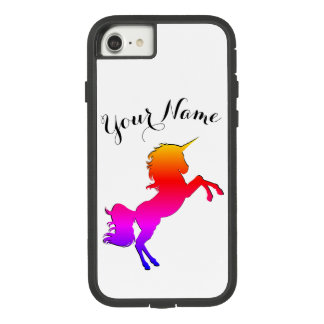 Rainbow Unicorn with Personalized Name Case-Mate Tough Extreme iPhone 8/7 Case