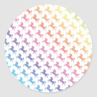 Rainbow Unicorns Classic Round Sticker