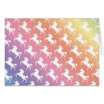 Rainbow Unicorns II Card