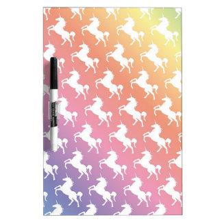 Rainbow Unicorns II Dry-Erase Board
