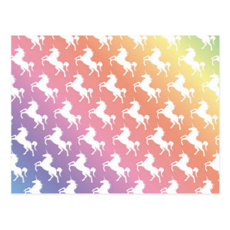 Rainbow Unicorns II Postcard