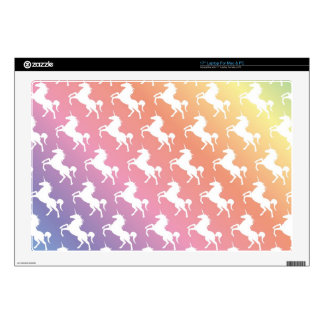 """Rainbow Unicorns II 17"""" Laptop Decals"""