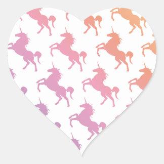 Rainbow Unicorns.pdf Heart Sticker