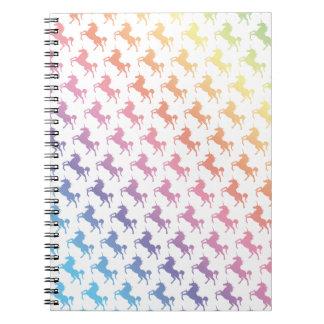 Rainbow Unicorns Spiral Notebook