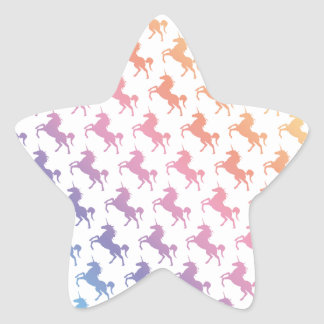 Rainbow Unicorns Star Sticker