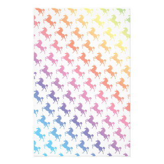 Rainbow Unicorns Stationery