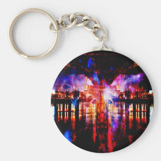 Rainbow Universe Bridge Keychain