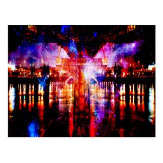 Rainbow Universe Bridge Postcard