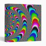 Rainbow Universe - Fractal Art 3 Ring Binders