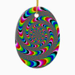 Rainbow Universe - Fractal Art Ceramic Ornament