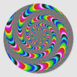 Rainbow Universe - Fractal Art Classic Round Sticker