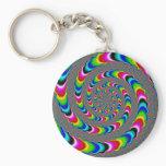 Rainbow Universe - Fractal Art Keychain