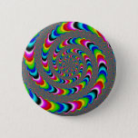 Rainbow Universe - Fractal Art Pinback Button