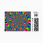 Rainbow Universe - Fractal Art Postage