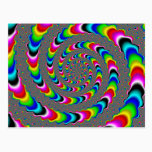 Rainbow Universe - Fractal Art Postcard