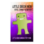 Rainbow universe handmade monster stuffie toy business card