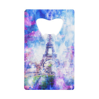 Rainbow Universe Paris Credit Card Bottle Opener