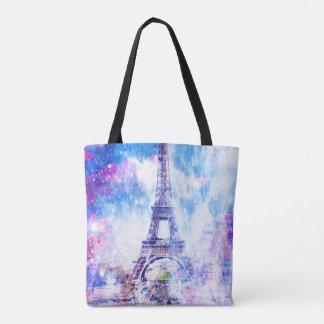Rainbow Universe Paris Tote Bag