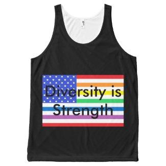 Rainbow USA Pride Diversity CricketDiane Patriotic All-Over-Print Tank Top