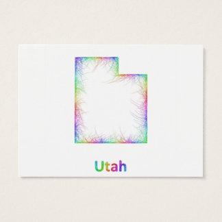 Rainbow Utah map Business Card