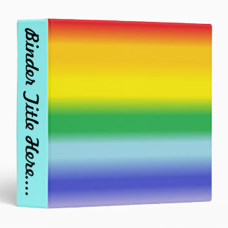 "Rainbow v1 - 1.5"" 3 ring binders"