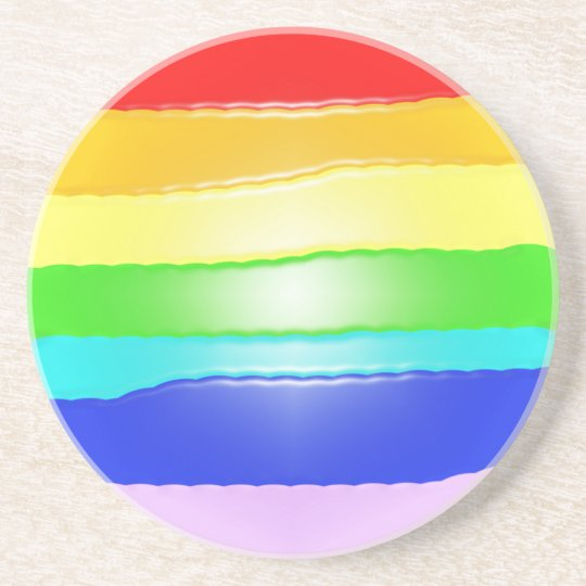 Rainbow v2 drink coaster