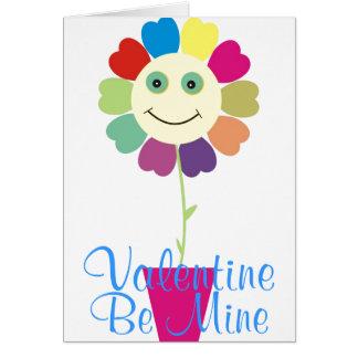 Rainbow  Valentine card
