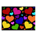 Rainbow Valentine Hearts Large Business Cards (Pack Of 100)