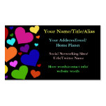 Rainbow Valentine Hearts Double-Sided Standard Business Cards (Pack Of 100)