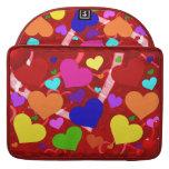 Rainbow Valentine Hearts MacBook Pro Sleeves
