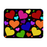 Rainbow Valentine Hearts Magnets