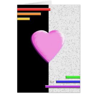 Rainbow Valentine's Card