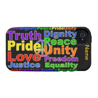 Rainbow Values iPhone 4 Case-Mate iPhone 4 Cover