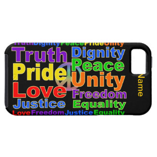 Rainbow Values iPhone 5 Case-Mate