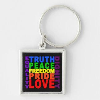 Rainbow Values key chain