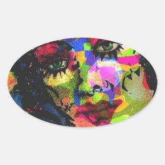 Rainbow Venus Oval Sticker