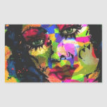 Rainbow Venus Rectangle Sticker