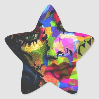 Rainbow Venus Star Sticker