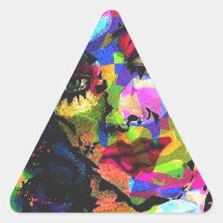 Rainbow Venus Triangle Sticker