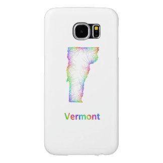 Rainbow Vermont map Samsung Galaxy S6 Cases