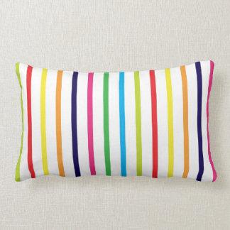 Rainbow Vertical Stripes Throw Pillow