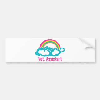 Rainbow Veterinary Assistant Bumper Sticker