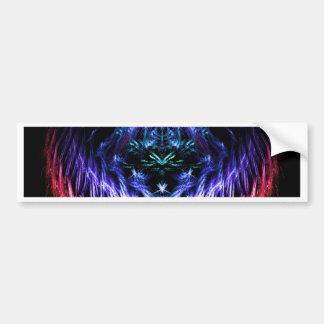 Rainbow Vibrations Fractal American Mojo Pillow Bumper Sticker
