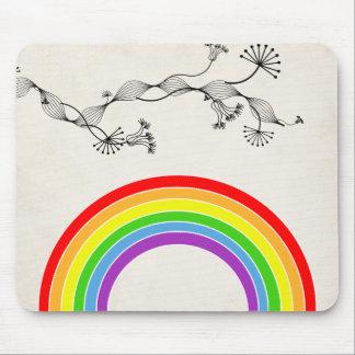 rainbow vintage paper mouse pads