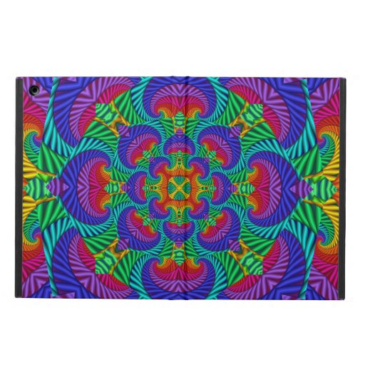Rainbow Vintage Psychedelic Fractal Kaleidoscope Case For iPad Air