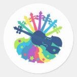 Rainbow Violin Sticker