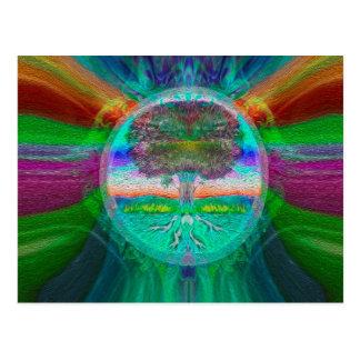 Rainbow Visions Tree of Life Postcard
