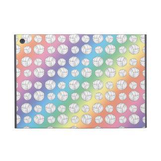 Rainbow volleyballs pattern iPad mini cover